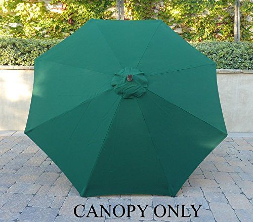 Formosa Covers Umbrella Replacement Canopy 8 Ribs in Hunter(Canopy Only) : hampton bay patio umbrella replacement canopy - memphite.com