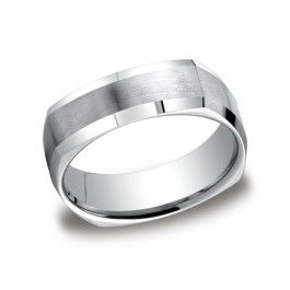 bands goldenmine finished silver wedding ring benchmark milgrain com m satin rings c argentium