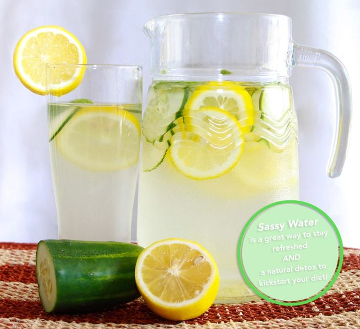 Feeling Sassy?    Sassy Water is a great way to perk up those 8 glasses of water you should be drinking everyday.    Not only is it delicious, but it's a great detox to help your body flush unwanted contaminants, fat, and excess water weight.     Recipe   8. 5 CUPS WATER  1 TSP/ GRATED GINGER  1 MED. CUCUMBER  1 MEDIUM LEMON  12 SPEARMINT LEAVES    Combine everything in a pitcher and refrigerate overnight to infuse the flavors. Drink the whole pitcher by the end of the day. Enjoy!