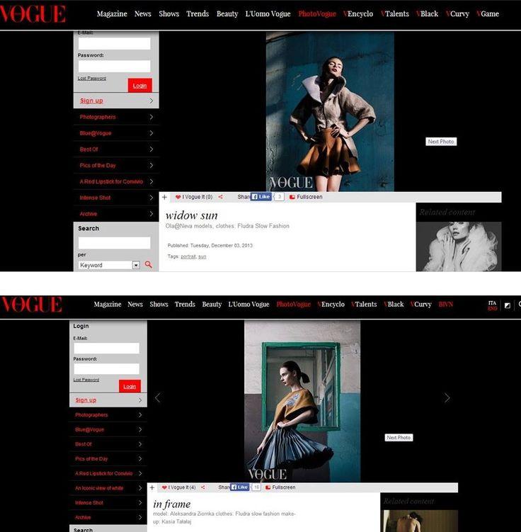Fludra Slow Fashion SS14 collection on @vogueitalia   designer, styling, photo shoot production Anna Fludra