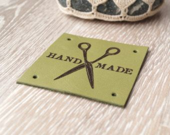 Sewing labels custom leather labels от LeatherGoodsCompany на Etsy