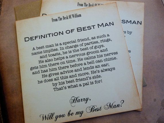 Will You Be My Best Man Invitation Vintage Inspired Clic Styling Personalized