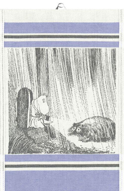 "Ekelund Muumi pyyheliina 35x50cm, ""Rainy Day"" 17,90€"