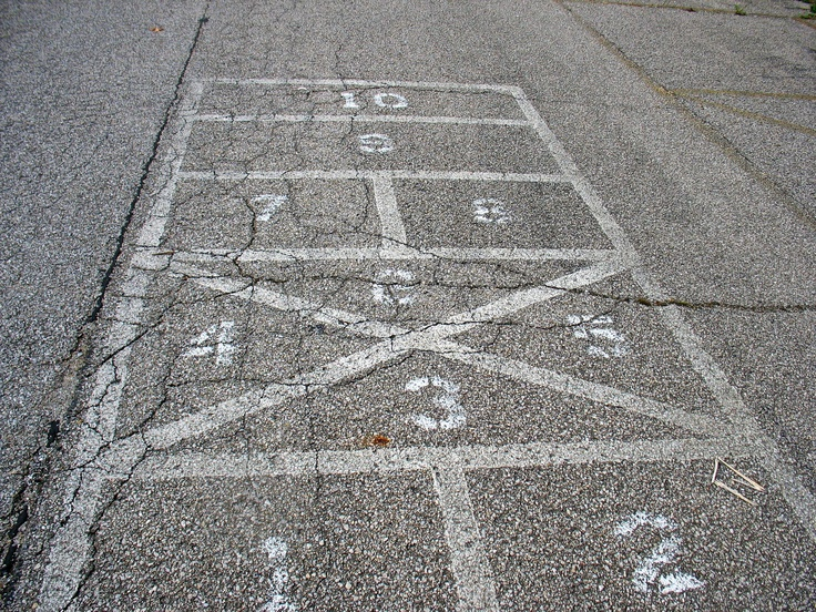 HOPSCOTCH ON AN OLD PLAYGROUND..