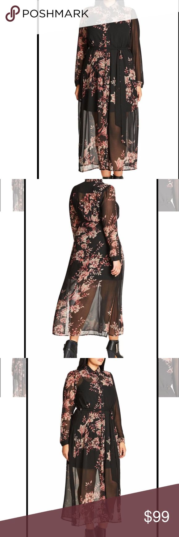 City Chic Longline Lady Maxi Dress Brand new Longline Lady Maxi Dress with black slip. Trendy, stylish, and chic. New with tags. City Chic Dresses Maxi
