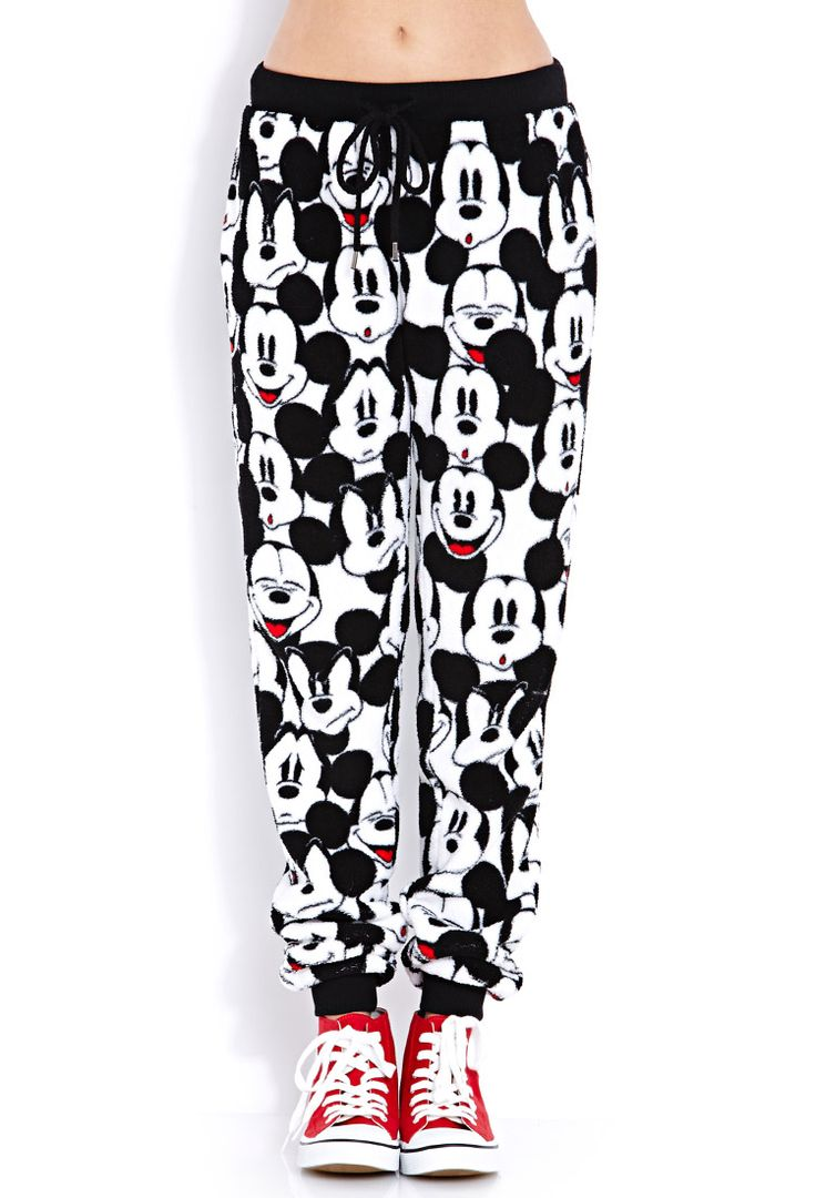 Cozy Mickey PJ Pants | FOREVER21 Sweet PJs, Mickey. #MickeyByF21 #Pajamas #MustHave