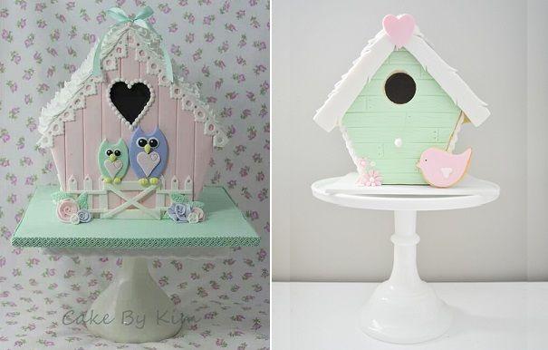 Birdhouse Cakes and Tutorials via Cake Geek Magazine: http://cakegeek.co.uk/index.php/birdhouse-cakes-2/