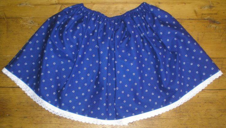Hungarian skirt in blue for children.