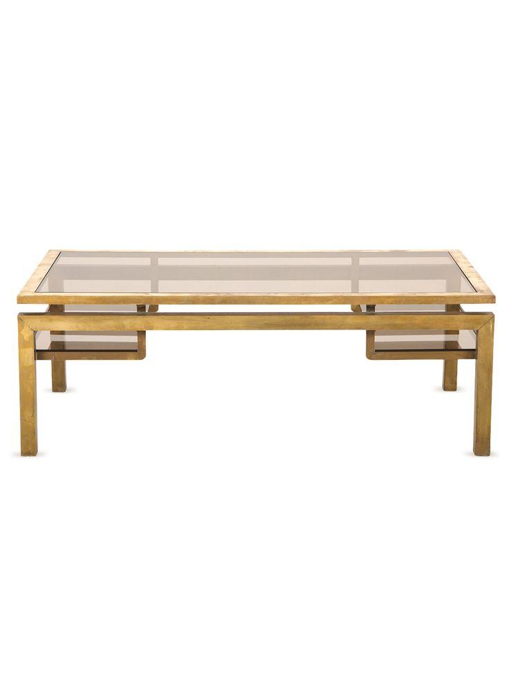 7b2af908d4bf755f5dbf5a28ad77b31b  brass coffee table coffee tables Labarge Brass And Glass Coffee Table