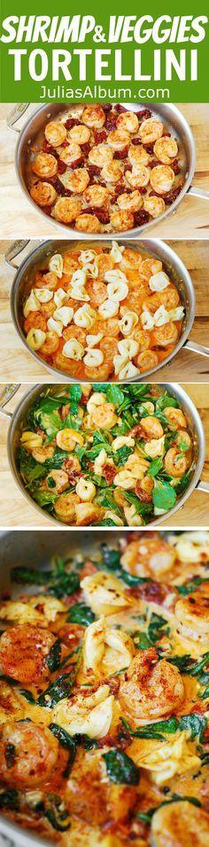 Tortellini with Shrimp and Veggies