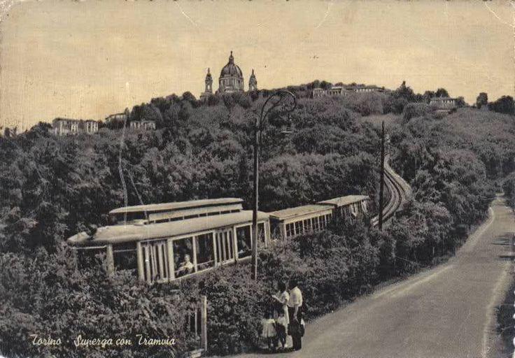 Superga con Tramvia - Torino http://www.torinovintage.it/torino-antica/superga-tramvia-torino