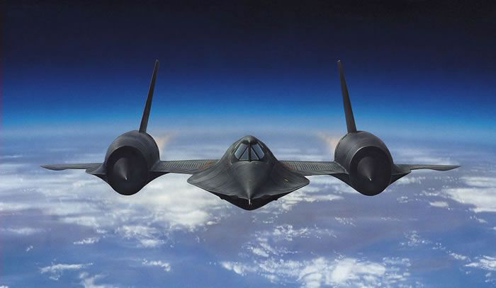sr-71 blackbird painting. The SR-71 is capable of speeds ...