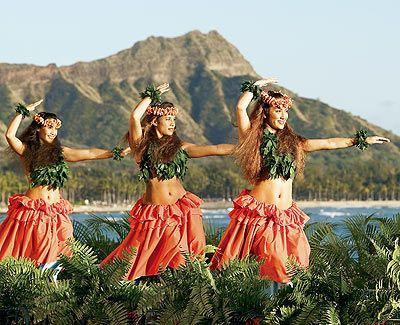 Hawaii ~ Since the age of 2 I have wanted to go to Hawaii. My Grandad bought me a book of World Dancing and I was enchanted by the dance and then the place. And my Mum loved Blue Hawaii and I just wanted to sit on a beach eating fruit salad ever since..lol