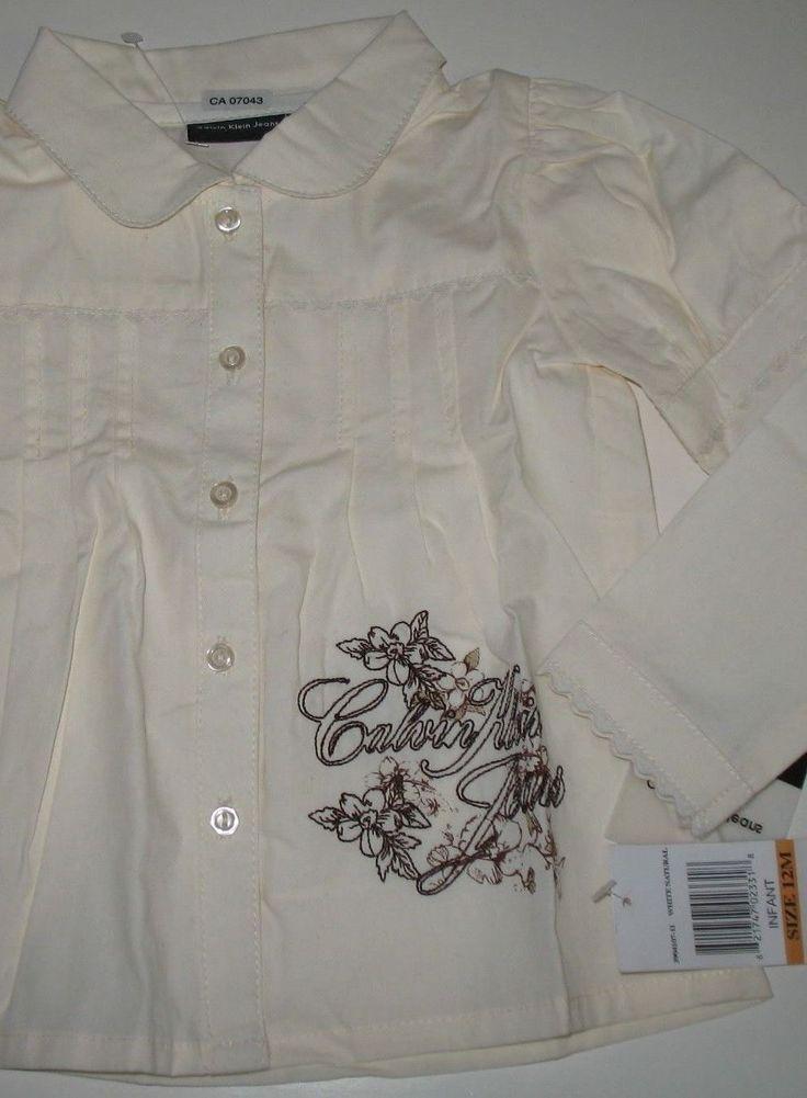 Lovely little Calvin Klein long-sleeved blouse in toddler girl's size 12 months. $14.95 on eBay.