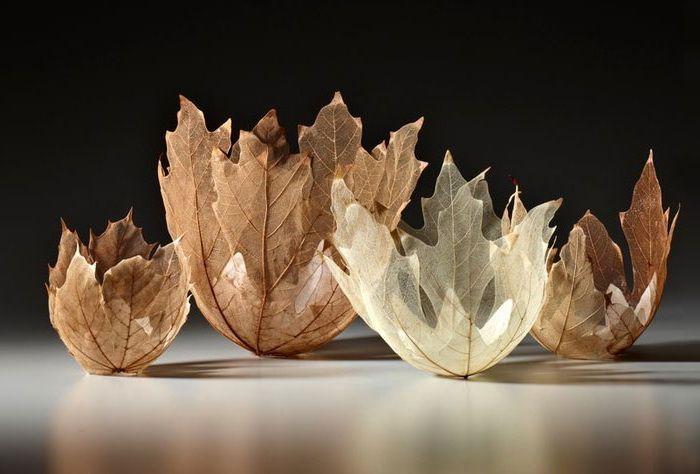 Чаши из листьев от Кэй Секимачи (Kay Sekimachi)