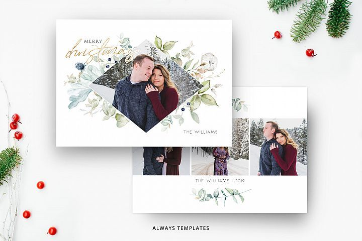 Christmas Card Template Cc076 372475 Card And Invites Design Bundles Photoshop Christmas Card Template Christmas Card Template Christmas Photo Card Template