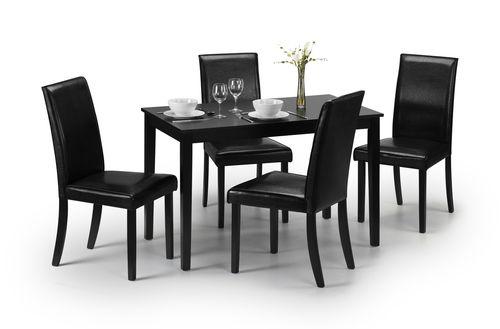 hudson dining, black dining table, ireland dining table, wooden dining table, black dining set, dining set ireland
