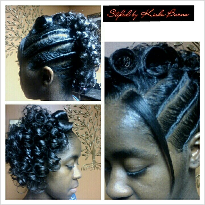 Twist And A Roller Set Updos And Pin Ups Pinterest