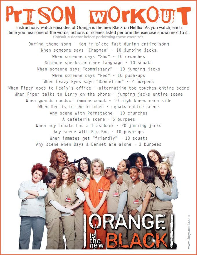 Orange Is the New Black Workout Netflix TV Workouts, TV Workout Games