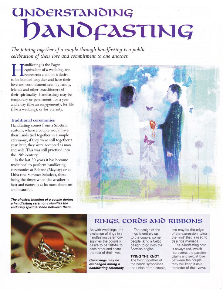 Handfasting - Can be done as a commitment when Engaged (a year prior to the actual or wedding) or can represent the wedding itself.  *Absolutely love the idea of this being done before the engagement party, or around that time