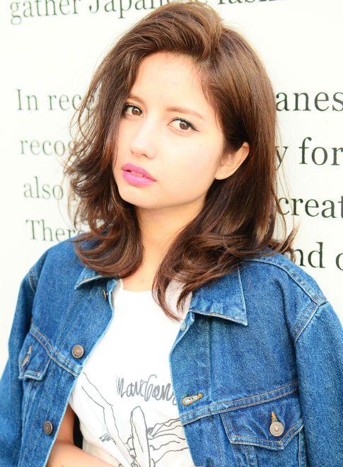外国人風レイヤースタイル 【NINE】 http://beautynavi.woman.excite.co.jp/salon/23938?pint ≪ #mediumhair #mediumstyle #mediumhairstyle #hairstyle・ミディアム・ヘアスタイル・髪形・髪型≫