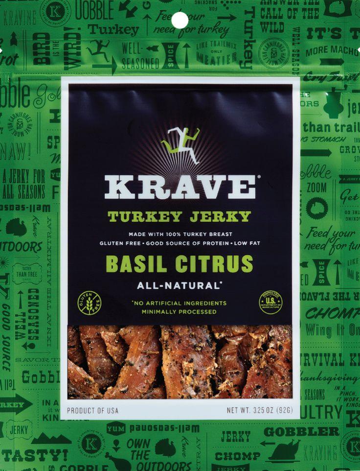 Basil Citrus Turkey Jerky - Gourmet Jerky by Krave Jerky