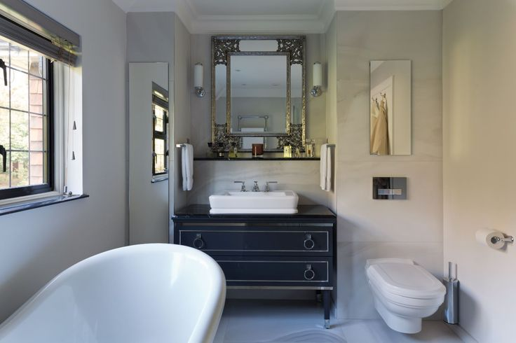 This beautiful house in Tunbridge Wells had several bathrooms that the owners wanted tastefully and classically designed. The en-suite featured here had @OasisGroupSrl furniture - great for instant luxury.