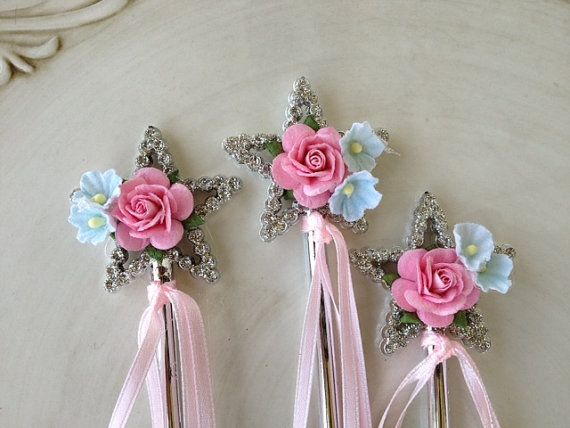 shabby chic magic wands for princess birthday party set of six princess birthday wand and shabby. Black Bedroom Furniture Sets. Home Design Ideas