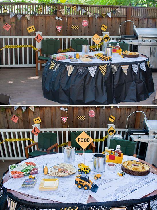 Construction Theme Birthday Party
