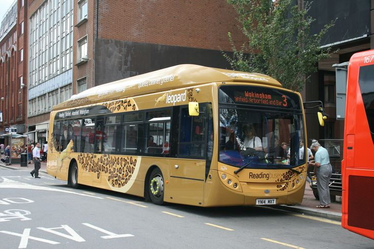 "Reading Buses, Gas powered Alexander Dennis Enviro 300 buses ""The Leopard"""