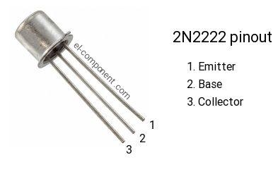 2N2222 transistor pinout