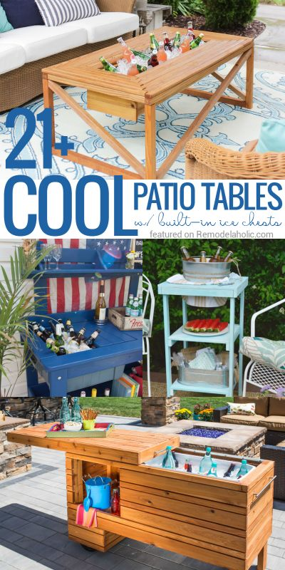 Brilliant DIY Cooler Tables for the Patio (with built-in...