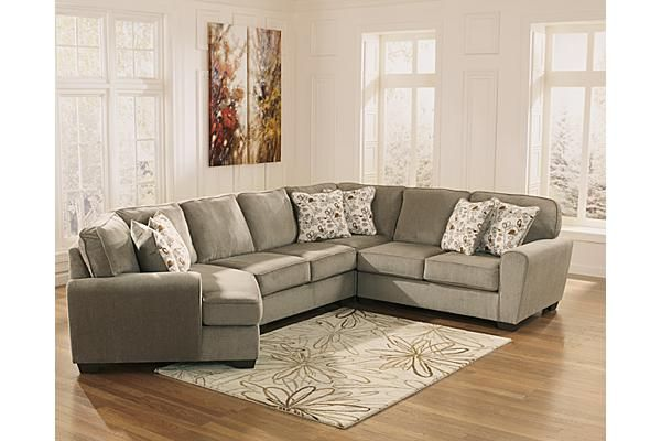 Ashley Furniture Patola Park Patina 2 Piece Sectional With Right Bed Mattress Sale