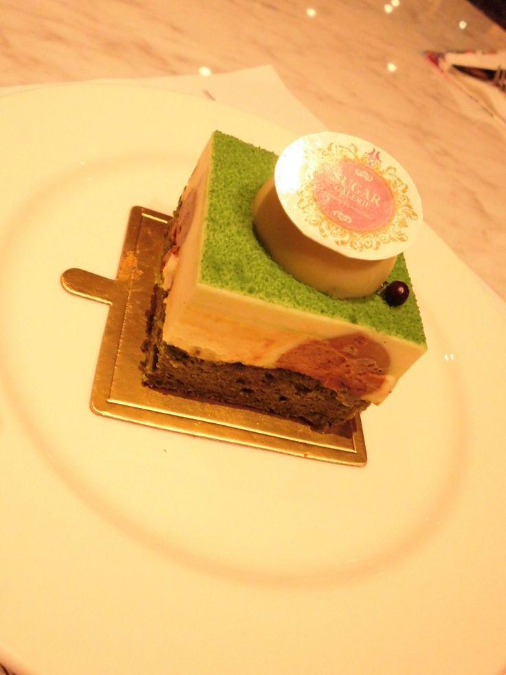One, Two, Tea #matcha #greentea #cake #whitechocolatemousse