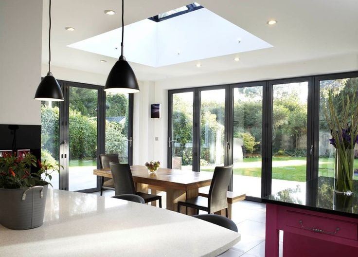 Light, Airy Kitchen Extension With Folding Sliding Doors | Apropos Conservatories
