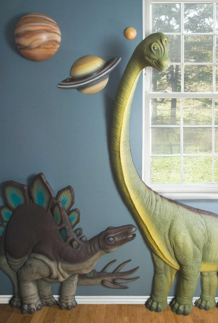 Dinosaur Wall Decor - Aaron would love these.