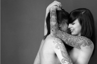 LipServants: Love Tattoo, Skull Tattoo, Photo Ideas, Lesbian Lovers, Couple Tattoo Lesbian, Body Art, Boudoir Photo, Tattoo Ink, Gay Pride