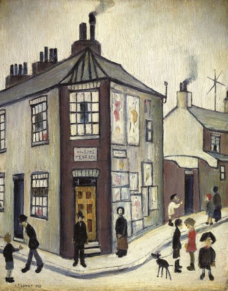 """Wilson's Terrace"" by L S Lowry, 1952. One of three views of York, commissioned by York Art Gallery"
