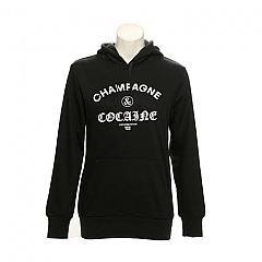 CROOKS N CASTLES | Champagne & cocaine pullover hood Black