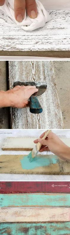 DIY ideas to make wood look old, weathered or distressed. #diy_painting_wood