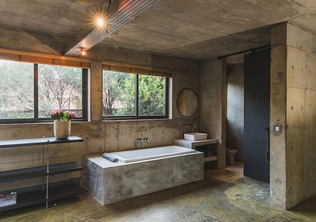 Celtis House proves that an industrial bathroom is the way to go!