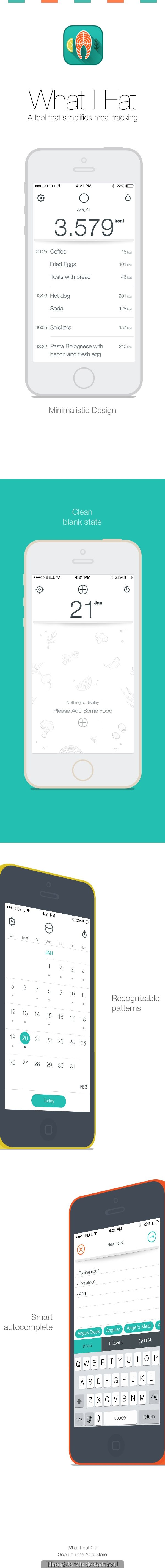 What I Eat App #appdesign #Inspiration #Mobile