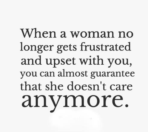 When a woman's fed up...