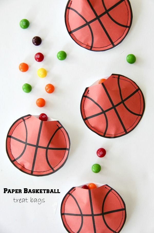 Basketball Party Idea: DIY Paper Treat Bags