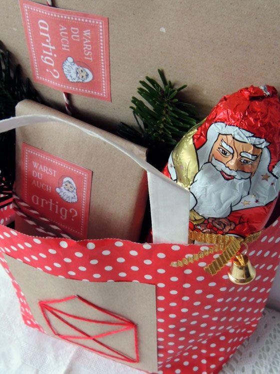Nikolaustute Geschenk Fur Nikolaus Verpacken Diy Das Haus Vom