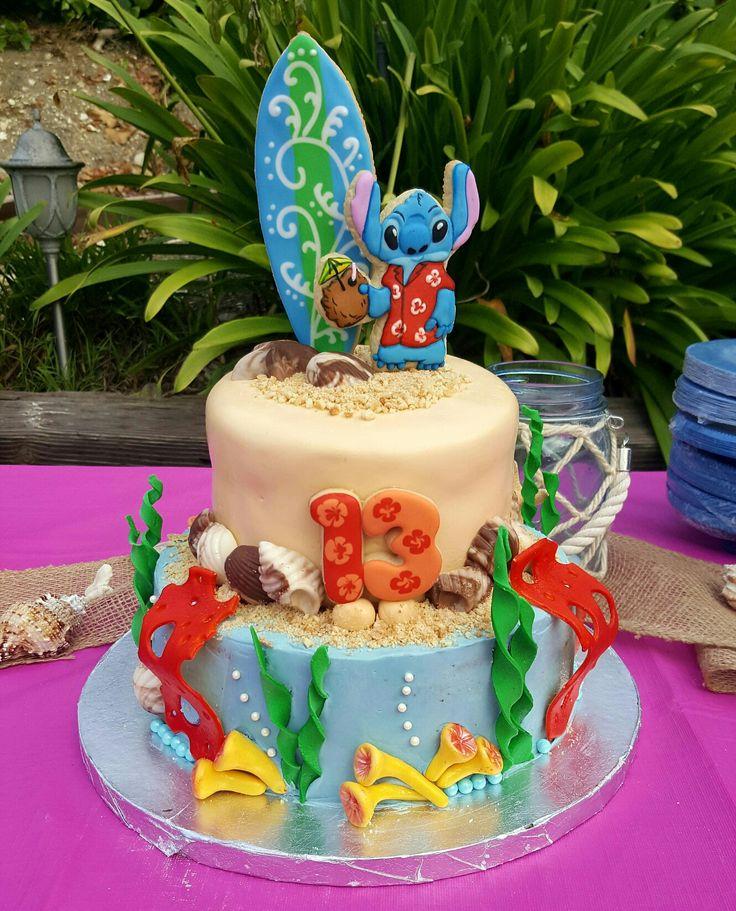 Stitch Cake By Vr Birthday Cakes In 2019 Stitch Cake