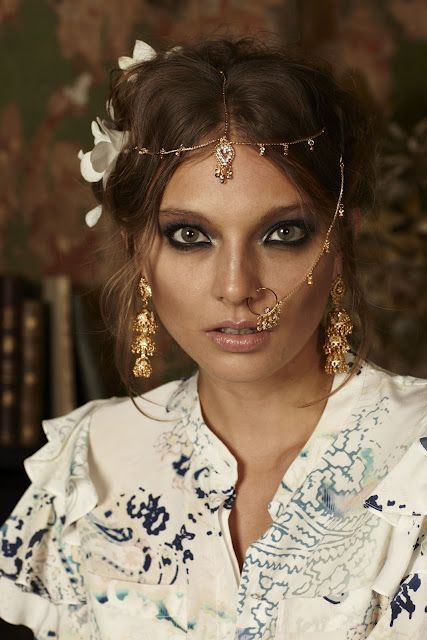 Their culture in the fashion world, so many bold statements with facial jewelry. +