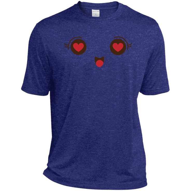 Heart Eyes Face Emoji 1 TST360 Sport-Tek Tall Heather Dri-Fit Moisture-Wicking T-Shirt