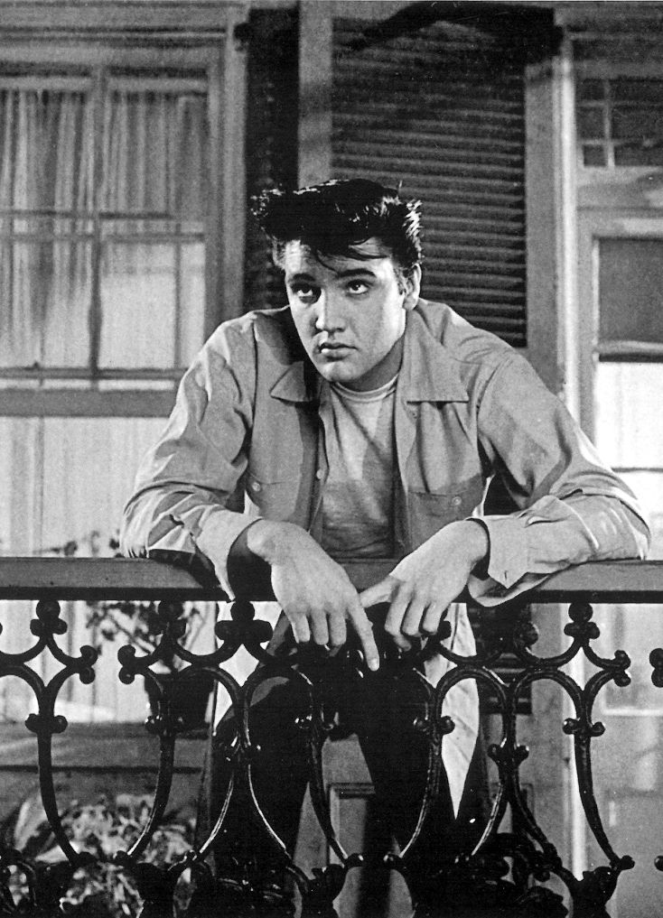 "Elvis in the opening scene in ""King Creole"""