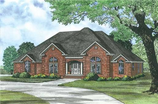 This+traditional+country+plan+features+many+large+rooms+all+on+one+level.+The+kitchen+has+an+island+open+to+the+great+room+which+is+great+for+entertaining.+The+master+suite+is+large+and+has+a+huge+walk+in+closet.+This+house+also+has+an+in-law+suite+and+a+large+laundry